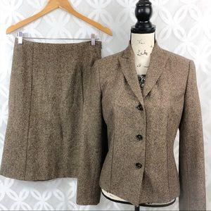 Ann Taylor Tweed Wool Suit